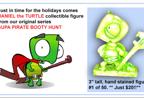 Daniel the Turtle Figure Now 4 Sale!